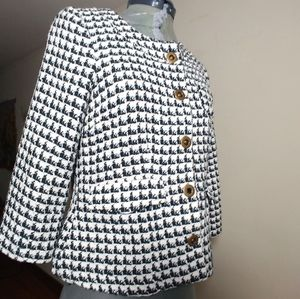 Anthropologie Tulle  Crop Knit Jacket Size Small